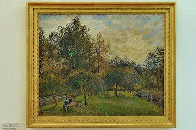 Le Havre - Musée Malraux - Pommiers et peupliers au soleil couchant, Eragny (Camille Pissaro - 1901)