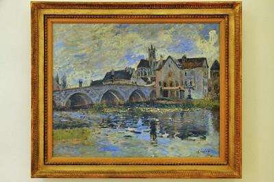 Le Havre - Musée Malraux - Le pont de Moret, effet d'orage (Alfred Sisley - 1887)