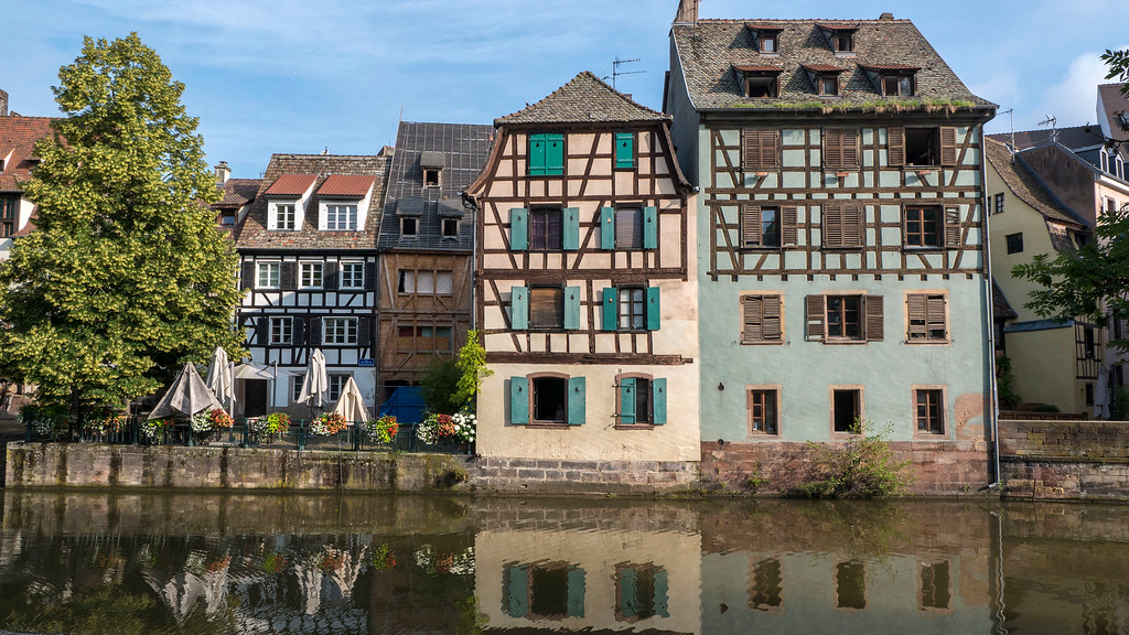 Half timbered buildings in Petite France