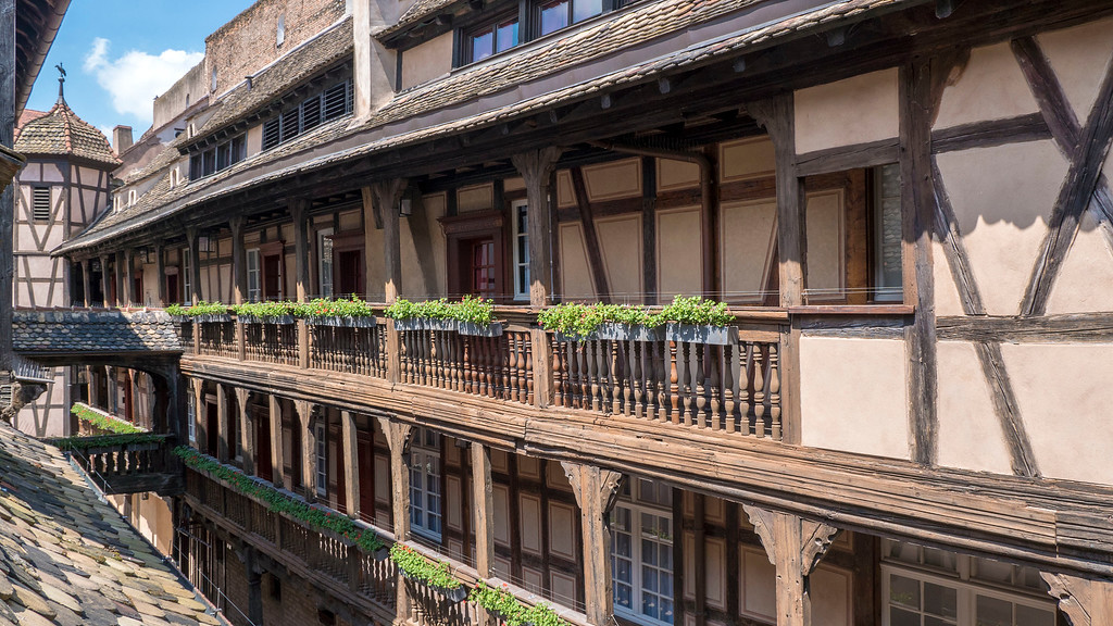 View from our room at the Mgallery Cour du Corbeau Strasbourg France