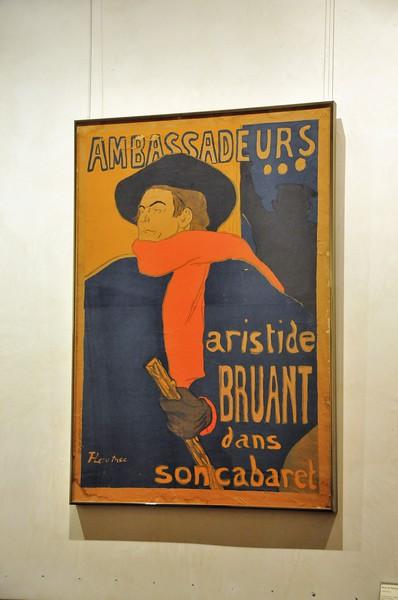 Albi - Musée Henri de Toulouse-Lautrec - Ambassadeurs - Aristide Bruant dans son cabaret (1892)