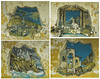 This is a collage of the four wall paintings in the dinning room / ball room. These paintings were apparently done by an artist who was a good friend of the architect who designed the hotel.<br /> <br /> Taste is very individual and I know nothing about art, but my wife thinks they're pretty awful. Not to mention the fact that they are in very poor condition.