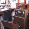 Behind the reception counter is this high-tech communications center. I'm guessing that there used to be a telephone in every room, and that that was a real luxury in the old days.