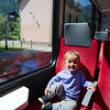 Oscar loving the Mont Blanc Express