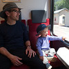 Oscar's favourite activity, riding the Mont Blanc Express