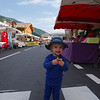 Enjoying a waffle at the weekly market in Les Contamines