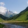 The path towards the Col de la Seigne