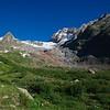 Glacier de la Lex Blanche viewed from Rifugio Elisabetta