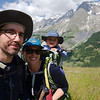 Selfie with Mont Blanc on the hike up to Rifugio Bertone