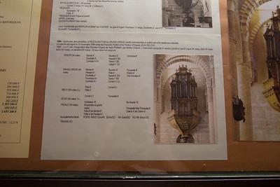 Abbaye de Saint-Philibert, Tournus.  Description of the history of the grand organ.