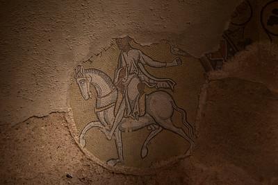 Mosaic, ca. 12th century.  Abbaye de Saint-Philibert, Tournus