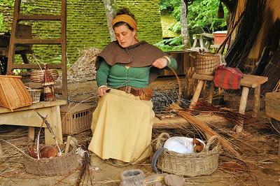 Chantier médiéval de Guédelon - Atelier de vannerie