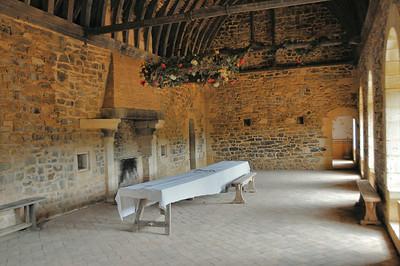 Chantier médiéval de Guédelon - Logis seigneurial - Grande salle