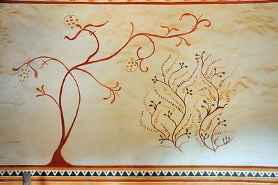 Chantier médiéval de Guédelon - Fresques de la grande salle du logis seigneurial
