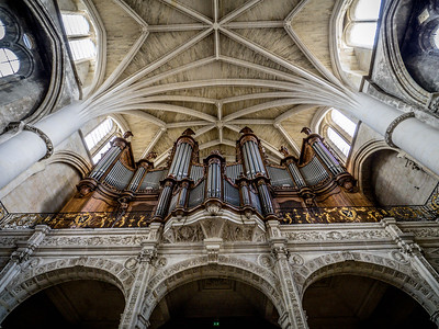 Pipes for organ,  Church of Saint Bruno - Bordeaux France