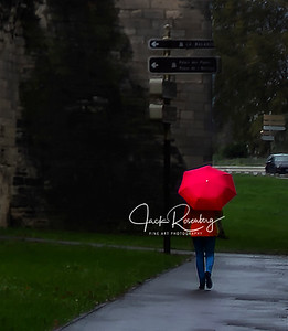 """""""Avignon 2019 - Red Umbrella On A Rainy Day In Southern France"""""""