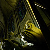 Inside Notre Dame cathedral, Paris.