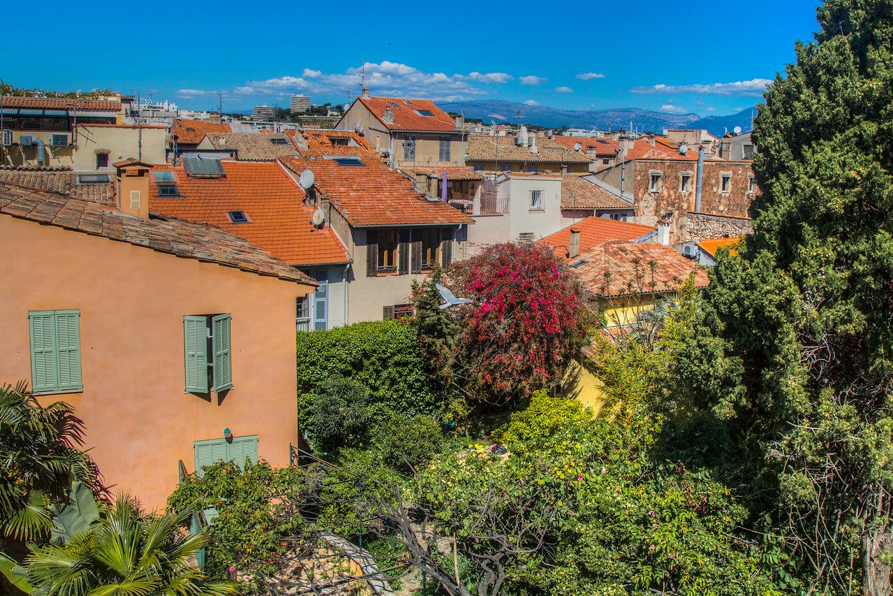 View from the window of apartment I stayed in in Antibes, France