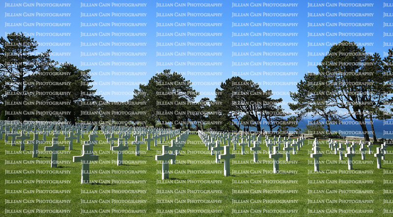 A World War II cemetery that honors American troops who died in Europe during World War II.