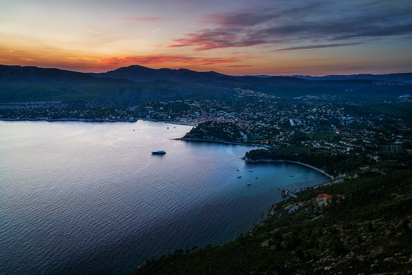 Cassis at sunset