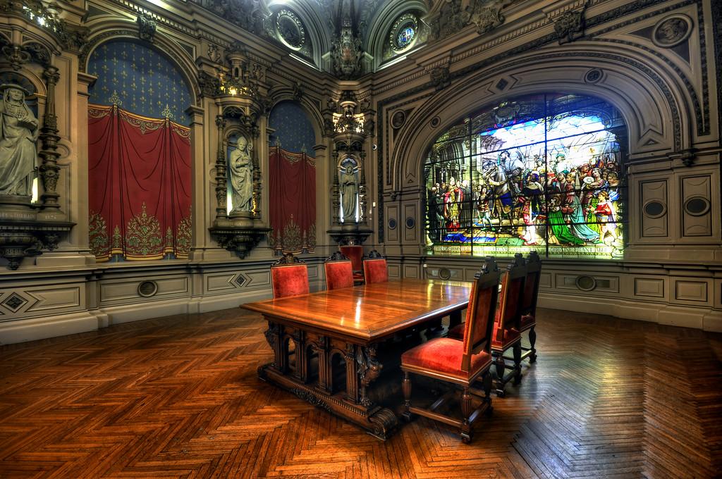 Interior of Palais Bénédictine, Fecamp, France