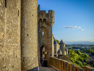 Carcassonne, France - outside the walls
