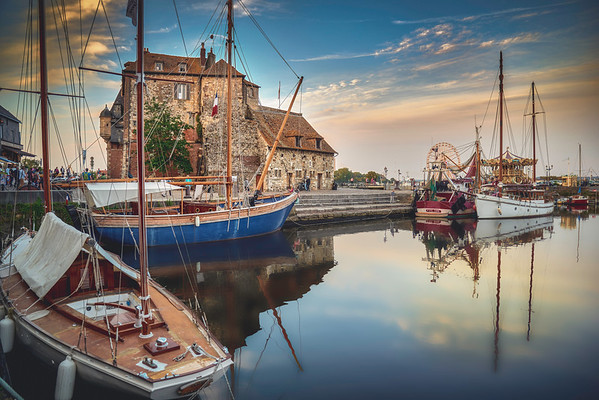 Honfleur harbour, France