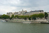 Musee D'orsay and boats on the River Seine,  Paris