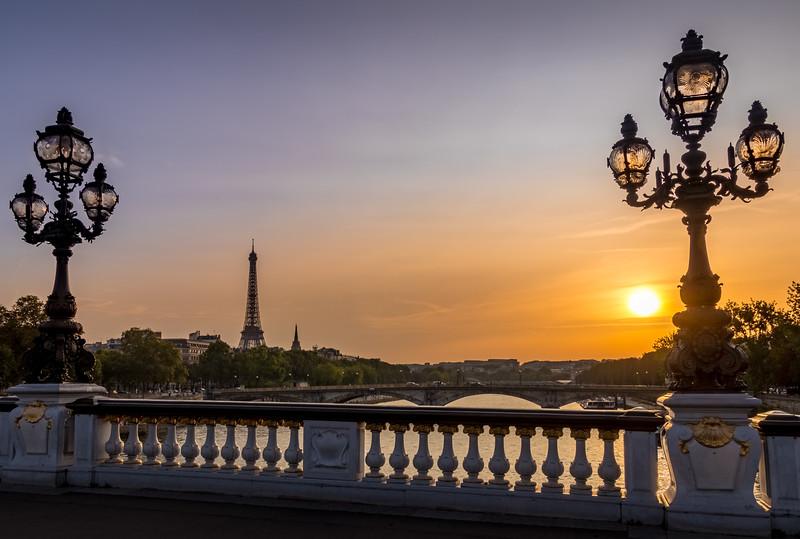Framed! - Eiffel Tower from Pont Alexandre III
