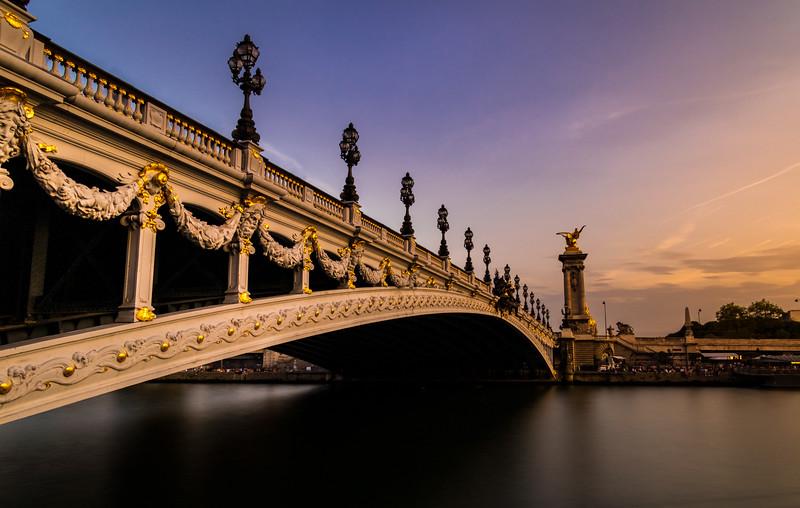 Pont Alexandre III at Sunset, Paris, France