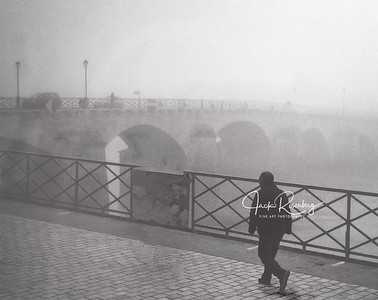 """Lyon 2019 - Foggy Rhone River Walk"""