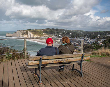 Viewpoint on Etretat cliffs