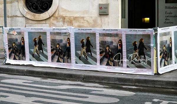 """Paris 2019 - Gorgeous Models On Ads Mark Street Construction"""