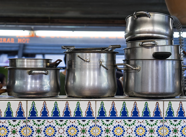 Pots at Food Stand