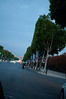 Arc de Triomphe on the Champs-Elysee, dawn in Paris
