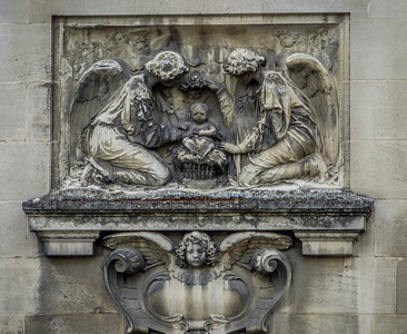 Architectural Relief - Cemetery - Bordeaux, France