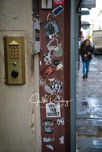 """""""Paris 2019 - Front Door Stickers"""""""