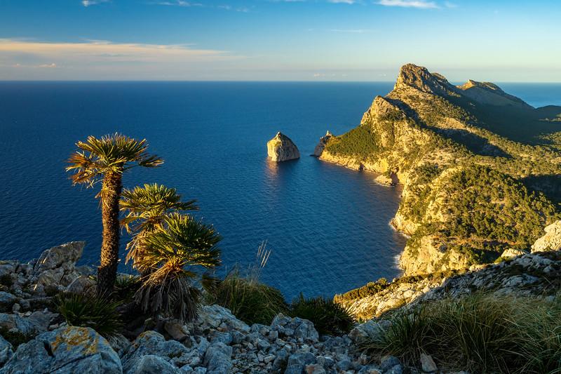 Albercutx Watchtower at sunrise in Mallorca