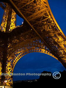 Close up of Eiffel Tower