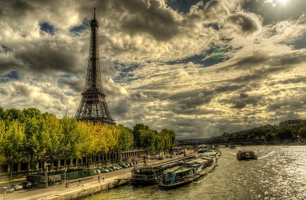 Eiffel and Seine