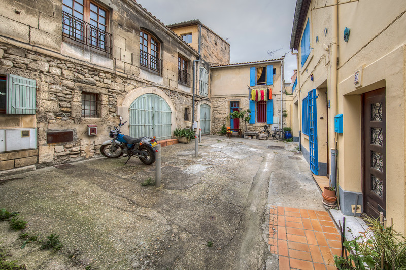 Courtyard in Arles, Provence Region, France