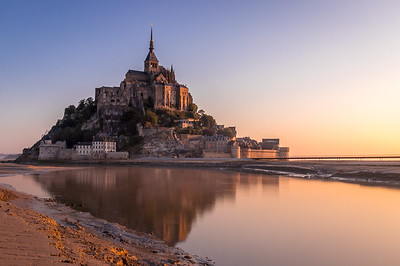 A fantasy sunrise! - Mont Saint-Michel, France