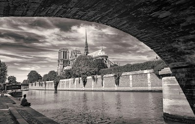 Notre Dame from Seine Banks.