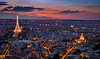 Dusk in the City of Lights - Paris, France