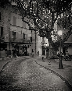 Evening in Beaucaire. Provence.
