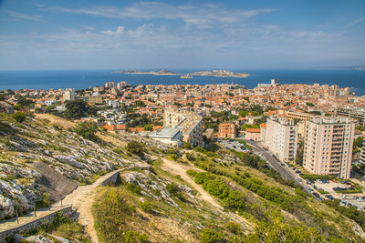 Shot from Notre-Dame de la Garde Basicila property, Marseille, France