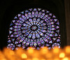 The Rosette of the South Rose Window of the Notre Dame Cathedral.  Paris, France.