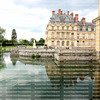 Beautiful reflections of the Palace du Luxembourg in Paris, France