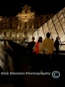 Strolling The Louvre at night