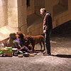 Homeless along the Seine, Paris, France
